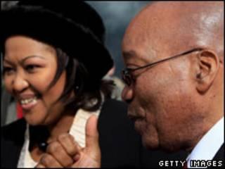 رئيس جنوب أفريقيا، جاكوب زوما رفقة زوجته