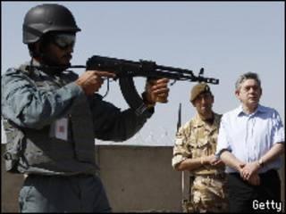 Gordon Brown en Afganistán