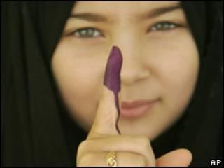 Votante  en Irak