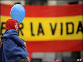 Marcha en España contra el aborto