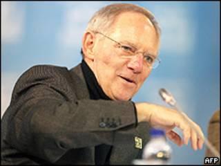 Ministro alemão das Finanças, Wolfgang Schäuble (arquivo)