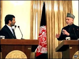 کرزی، احمدی نژاد