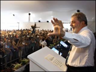 O presidente Luiz Inácio Lula da Silva durante inauguração de termelétrica em Cubatão (Foto: Ricardo Stuckert / PR)
