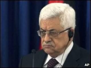 O presidente da Autoridade Palestina, Mahmoud Abbas