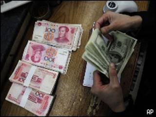 Yuans e dólares