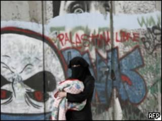 Mujer palestina en Jerusalén Oriental