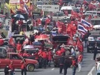 متظاهرون من القمصان الحمر في تايلاند