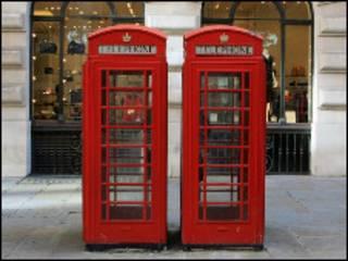 Классический английский телефон-автомат