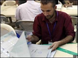 Conteo de votos en Bagdad