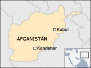 Mapa de Kandahar en Afganistán