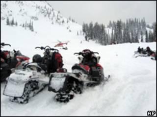 Snowmobiles em Revelstoke