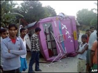 Авария автобуса в Индии (архивное фото)