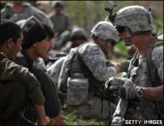 Ejército estadounidense en Afganistán.