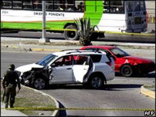 Escena del crimen en Ciudad Juárez, México