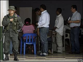 Votación el domingo pasado en Colombia