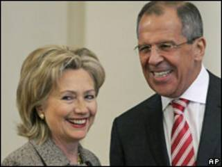 Хиллари Клинтон и Сергей Лавров