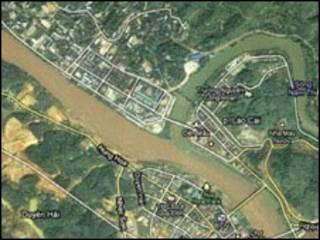 Ảnh chụp đường biên giới Việt Trung qua vệ tinh
