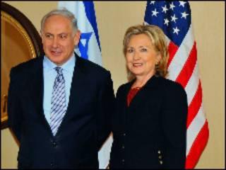 هیلاری کلینتون و بنیامین نتانیاهو در واشنگتن