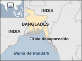 Mapa de la Bahía de Bengala