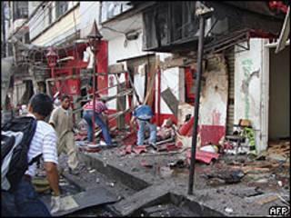 Escena tras el ataque en Buenaventura.