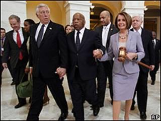 Protesta contra la reforma sanitaria frente al Capitolio