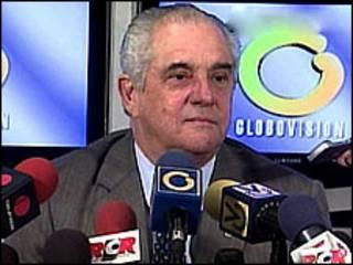 O presidente da Globovisión, Guillermo Zuloaga