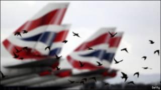 Самолеты British Airways в лондонском Хитроу