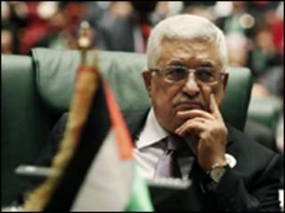 Mahmoud Abbas durante encontro da Liga Árabe em Trípoli, Líbia