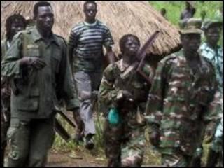 Guerrilheiros do LRA em foto de 2006