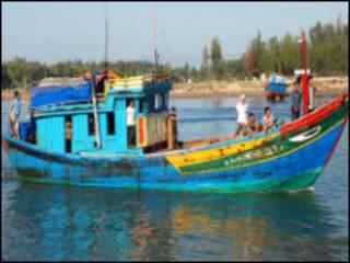 Tàu cá Quảng Ngãi từng bị Trung Quốc bắt (ảnh VnExpress)