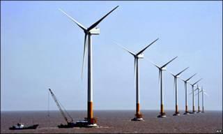 نیروگاه بادی در آب های چین