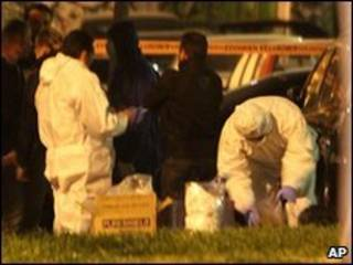 Equipos forenses en Atenas