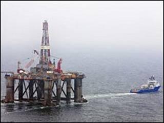Plataforma petrolera en Falklands Malvinas