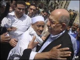 Mohamed ElBaradei con seguidores