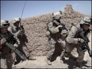قوات امريكية في إقليم هلمند الأفغاني