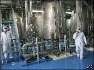 منشأة اصفهان النووية الإيرانية