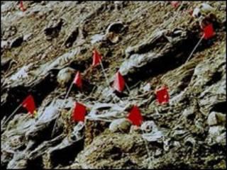 Vala comum encontrada perto de Srebrenica