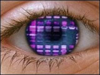 Глаз с цветной матрицей