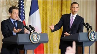 Tổng thống Mỹ Obama và Tổng thống Pháp Sarkozy