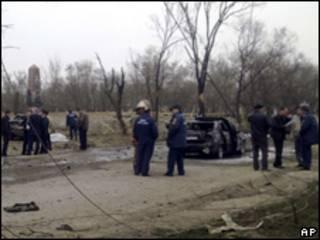 Sitio de la explosión en Daguestán
