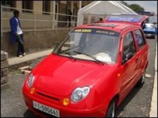 Эфиопский электромобиль