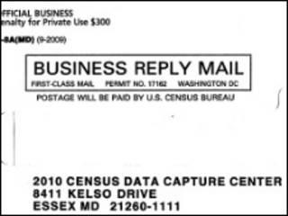 конверт из Бюро по переписи
