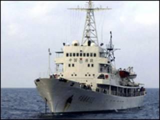 Một trong các tàu ngư chính của Trung Quốc