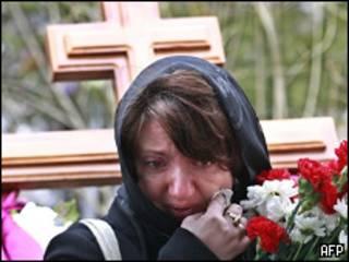 На похоронах в Москве