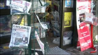 Газетный развал в Париже