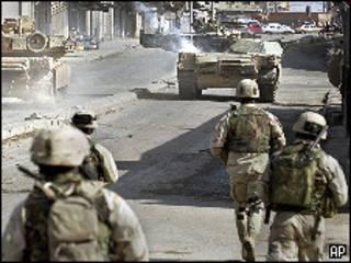 دورية امريكية في الموصل