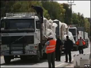 Transporte de mercancías hacia Gaza