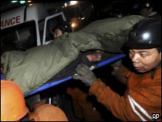 Rescate de mineros en China