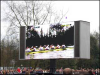 big screen for watching boat racing
