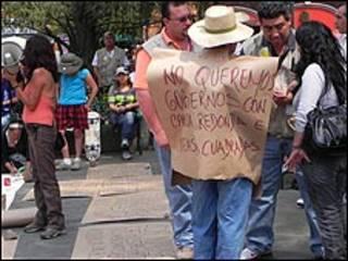 Protesta en Ciudad de México